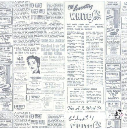 Zen Chic, Modern Background Essentials newspaper by Birgitte Heitland (11049)