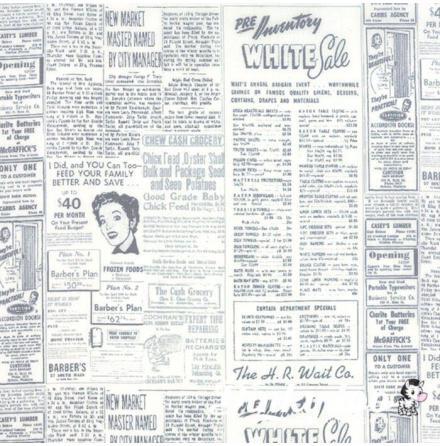 Zen Chic, Modern Background Essentials newspaper by Birgitte Heitland (11049)