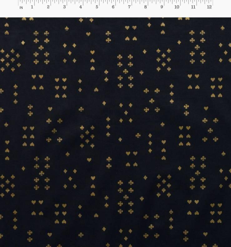Rifle Paper Co Wonderland Metallic Follow Suit Lawn Navy (11157)