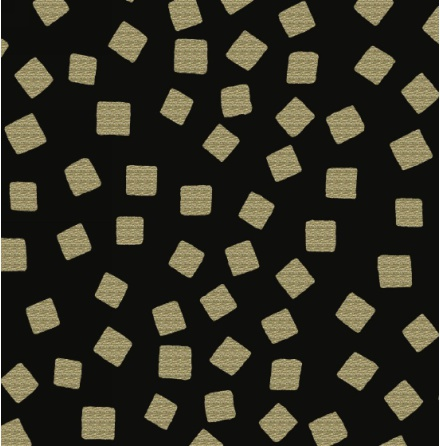 Razzmatazz Foil Prints Tossed squares - Gold (11158)