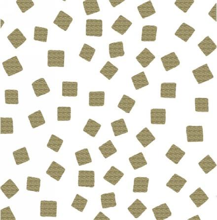 Razzmatazz Foil Prints Tossed squares - Gold (11160)