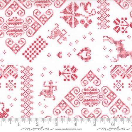 Seasonal Winter Knit Sampler Red (11164)