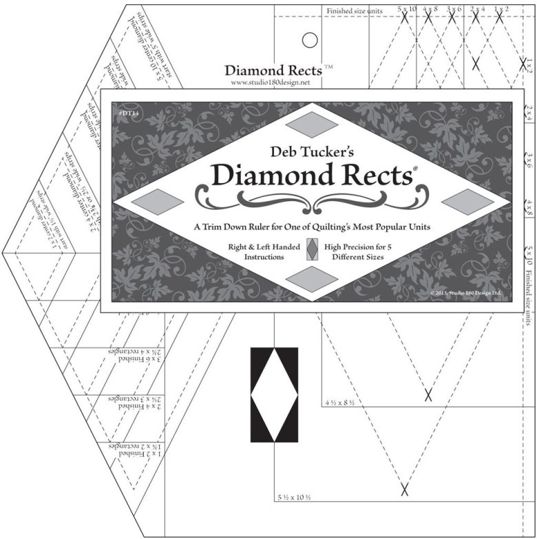 Linjal Studio 180 Diamond Rects (12023)