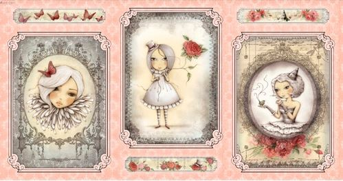 Mirabelle, La Vie En Rose, Cameo Girl, panel, rosa (10901)