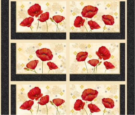 Scarlet Dance Placemat Panel (10923)