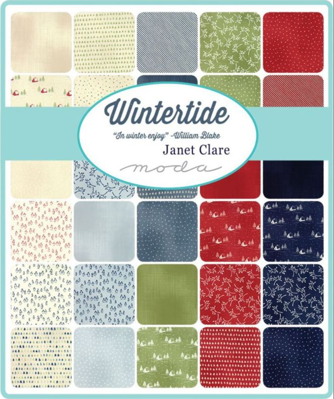 Wintertide by Janet Clare MODA, charmpack (11377)