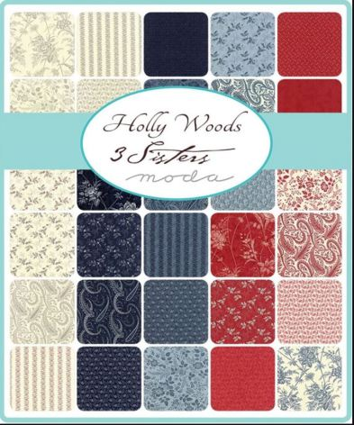 Holly Woods by 3 Sisters, MODA, jellyroll (11382)