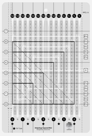 Linjal, Creative Grids Mini Square Ruler (12035)
