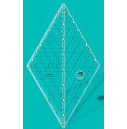 Linjal, Creative Grids 60 degree Diamond Ruler (12036)