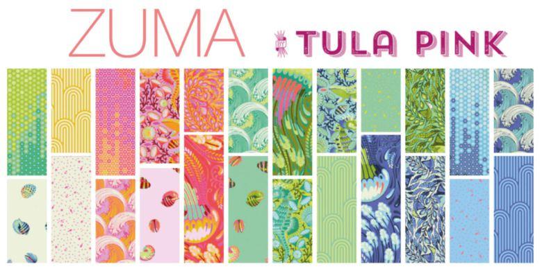 Zuma by Tula Pink for FreeSpirit Fabrics, charmpack (11386)