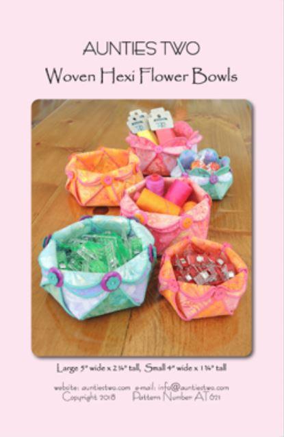 Woven Hexi Flower Bowls (13098)