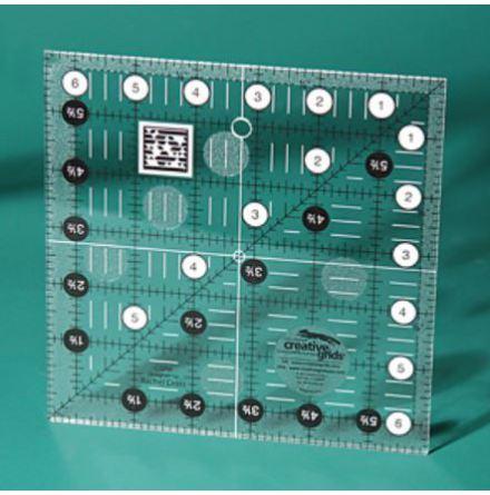 "Creative Grids 6½""x6½"", linjal (12038)"