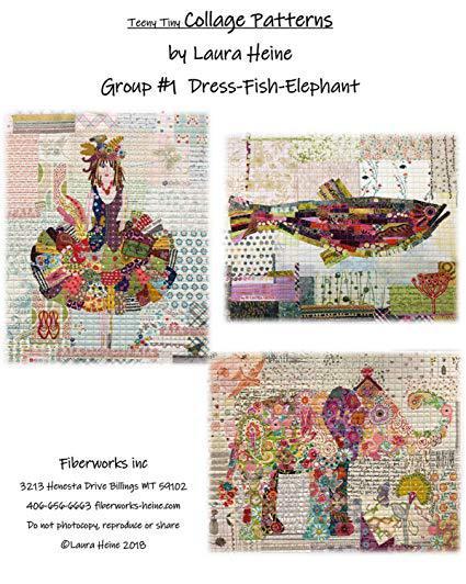 Teeny Tiny Collage Mönster från Laura Heine (13112)