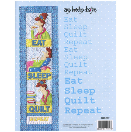 Eat Sleep Quilt Repeat Mönster (13122)