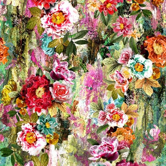 Hoffman Busy Blooms Digital Print (16221)