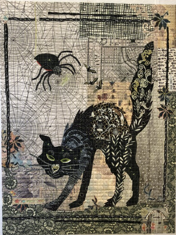 Black Cat Collage mönster (16231)