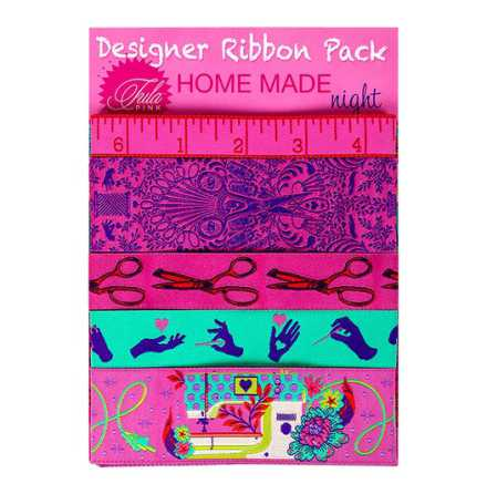 Designer Ribbon Pack Tula Pink Homemade Night (16250)