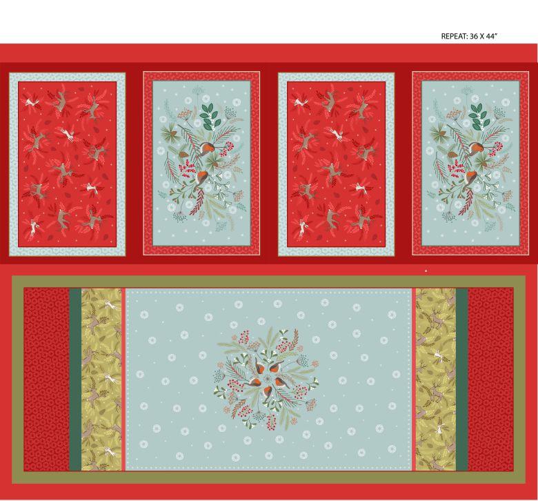 Panel med 4 bordstabletter och löpare (16330)