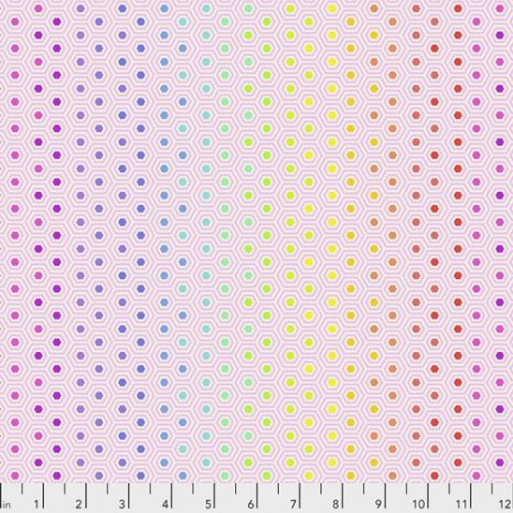 Tula Pink Hexy Rainbow - Shell (16338)