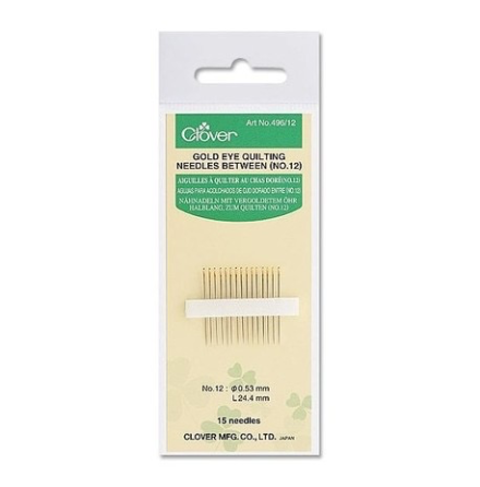 Gold Eye Quilting Needles no 12 (16387)