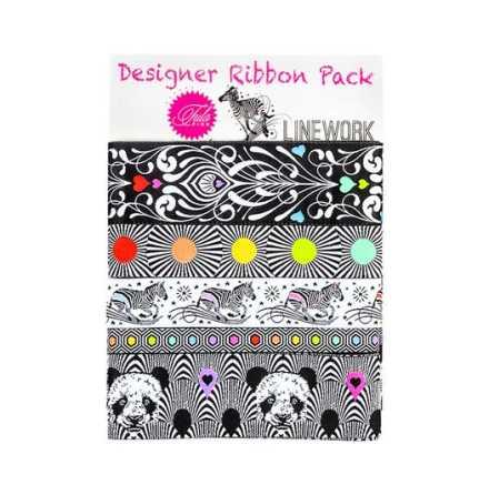 Designer Ribbon Pack Tula Pink Linework (16402)
