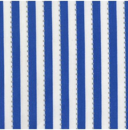 Blå Randigt tyg med silverprickar (16519)