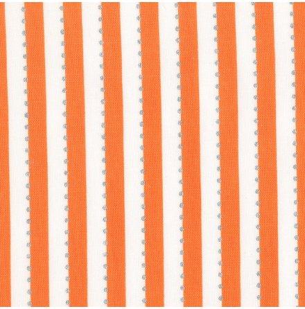 Orange Randigt tyg med silverprickar (16527)
