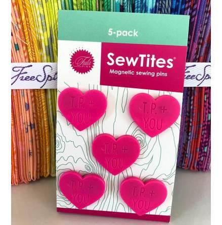 "SewTites Tula Pink hjärtan magnetiska ""nålar"" (16541)"