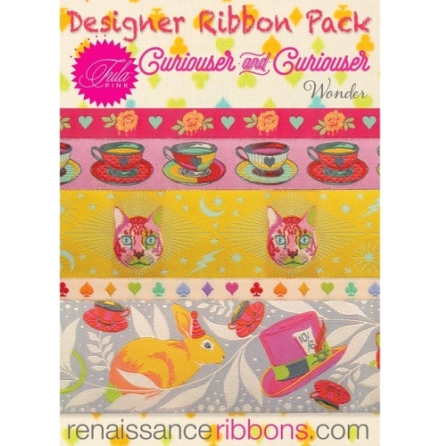 Designer Ribbon Pack Tula Pink Curiouser and Curiouser Wonder  (16600)