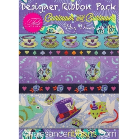 Designer Ribbon Pack Tula Pink Curiouser and Curiouser Day Dream  (16601)
