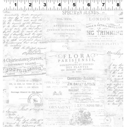 Botanical Journal Adverts  Mist Gray (16609)