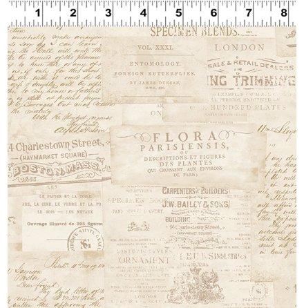 Botanical Journal Adverts  Khaki (16610)